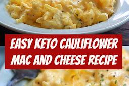 Keto Cauliflower Mac and Cheese Recipe #keto #lowcarb #cauliflower #recipe