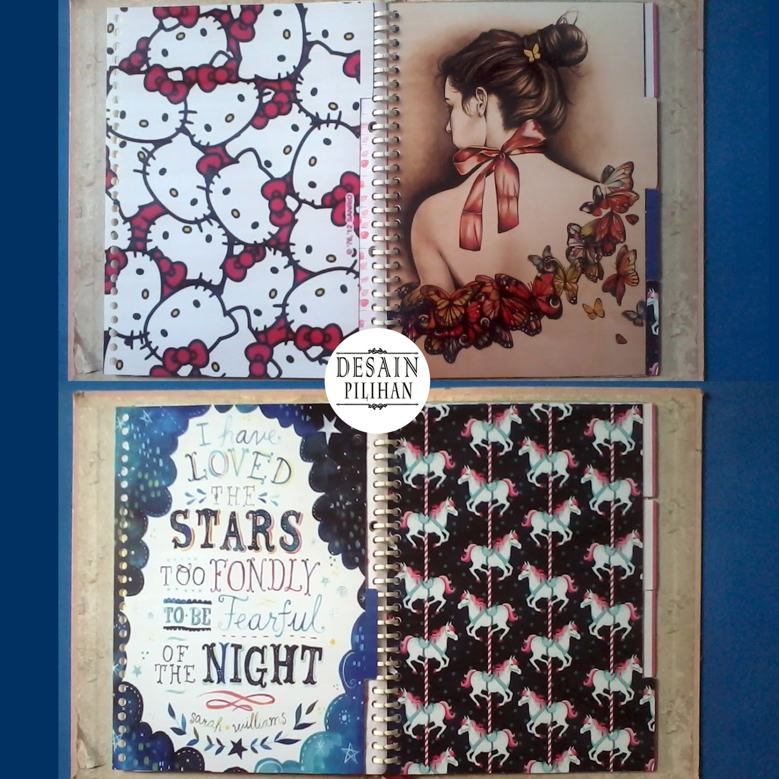 pembatas binder hello kitty, horse, girls, star
