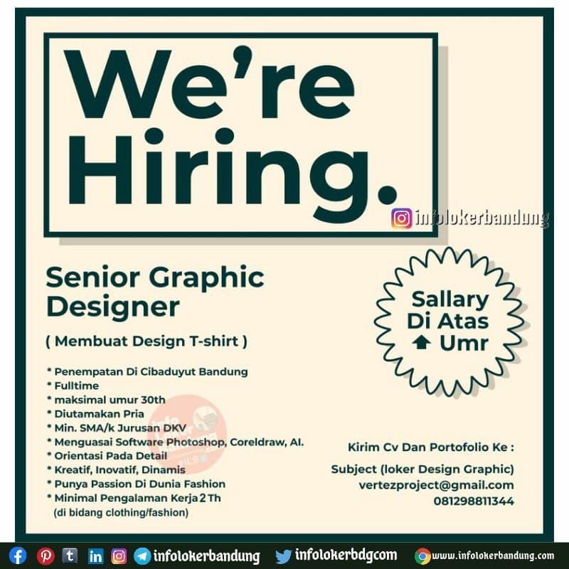 Lowongan Kerja Senior Graphic Designer Vertez Project Bandung Agustus 2021
