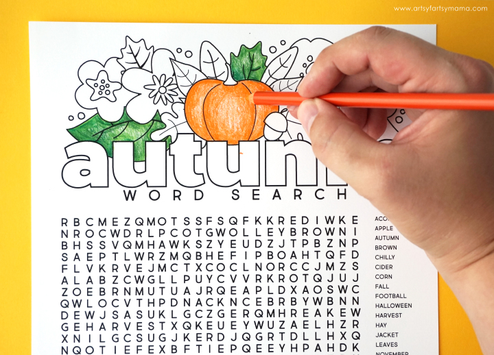 picture regarding Fall Word Search Printable called Absolutely free Printable Autumn Term Appear Coloring Webpage artsy