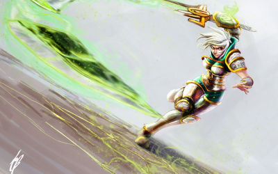 League of Legends Riven Artwork - Fond d'écran en Full HD 1080p