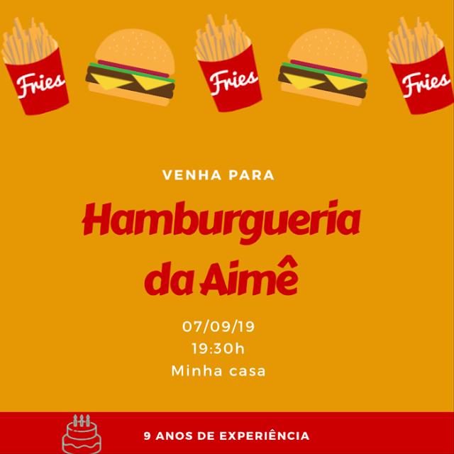 convite festa hamburgueria