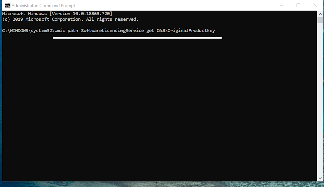 How to Find Product Key of Windows 10 Using Command Prompt
