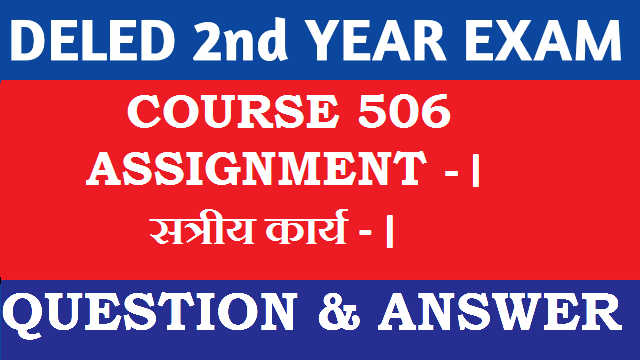 Nios Deled Assignment 506 in Hindi