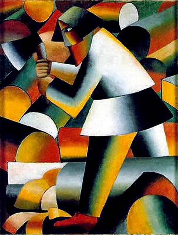 O Lenhador - Kasimir Malevich e suas pinturas com elementos geométricos abstratos