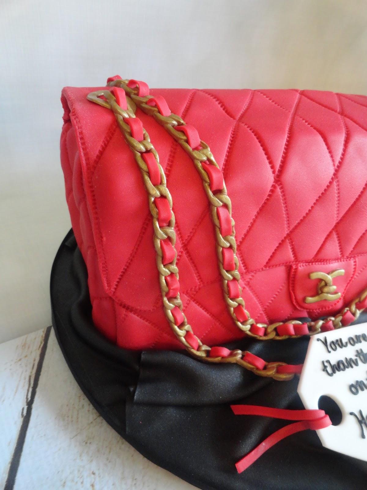 My Pink Little Cake Chanel Bag Birthday Cake