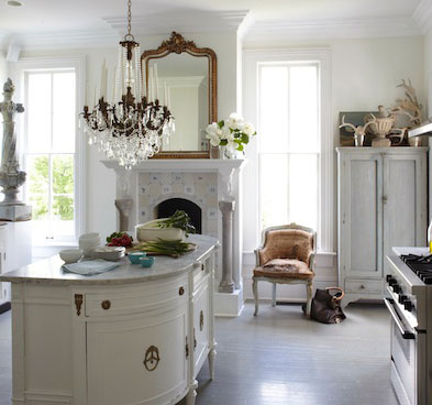Breathtaking European farmhouse kitchen by Annie Brahler - found on Hello Lovely Studio
