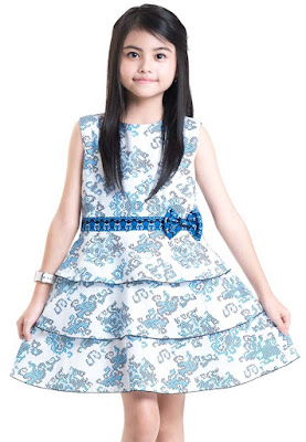 Model Baju Batik Anak Perempuan Mini Dress Terbaru
