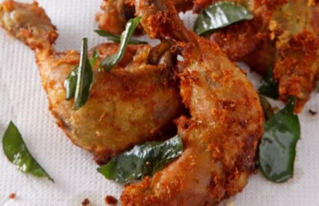 Membuat Ayam Goreng Kuning Tabur Daun Jeruk Yang Lezat