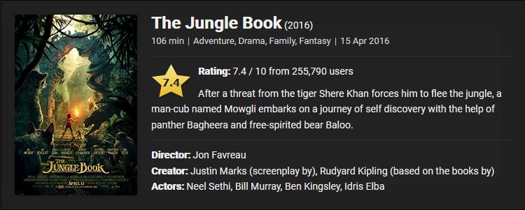 The Jungle Book (2016) Download Full Movie Download Dual Audio {Hindi-English} ESubs BluRay 480p [350MB] || 720p [900MB] || 1080p [3.5GB]