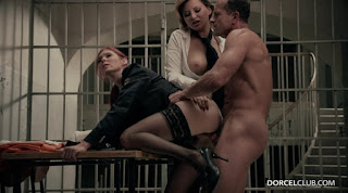 DorcelClub Anna Polina And Kattie Gold Hard Sex Party With 2 Naughty Wardens