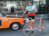 Coureur cycliste des années 1970