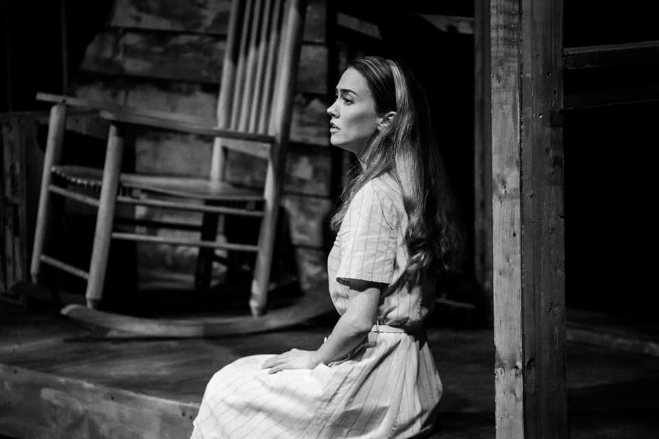 IN PERFORMANCE: sopraro CHARLI MILLS as Sadie in Carlisle Floyd's SLOW DUSK in Piedmont Opera's October 2020 production ECHOES FROM CAROLINA [Photograph © by André Dewan Peele]