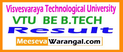 Visvesvaraya Technological University B.E/B.Tech Exam Results