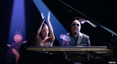 "Stevie Wonder Premieres ""Faith"" Video ft. Ariana Grande"