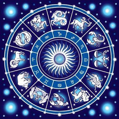 Orígenes de los signos. Reloj del zodíaco con imágenes y símbolos