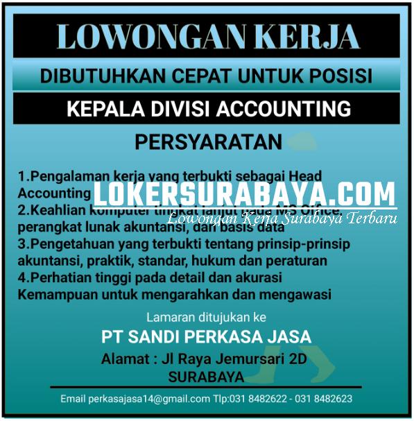 Info Lowongan Kerja Di Pt Sandi Perkasa Jasa Surabaya Oktober 2020 Lowongan Kerja Surabaya Januari 2021 Lowongan Kerja Jawa Timur Terbaru