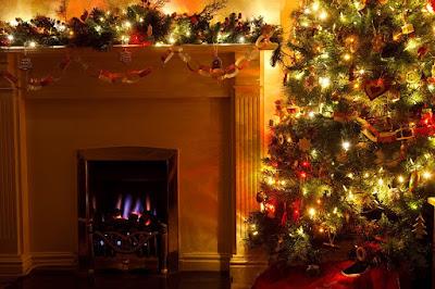 decoracion chimeneas navidad