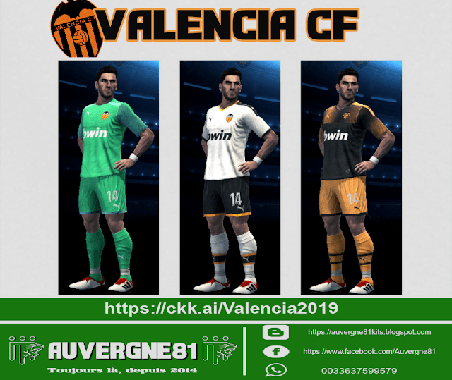 the best attitude 58d6f 9d84e PES 2013 Kits Valencia CF GDB 2019/2020