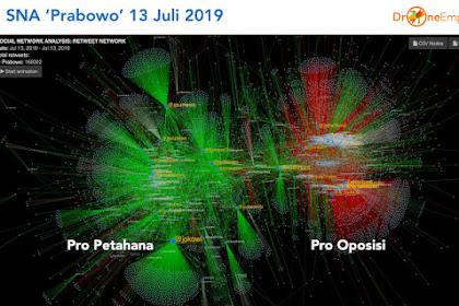 Pakar Medsos: Prabowo Ditinggalkan Pendukungnya karena Bertemu Jokowi