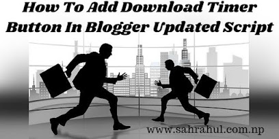 How To Add Download Timer Button In Blogger Updated Script