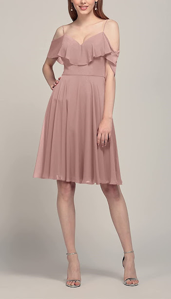 Knee Length Chiffon Bridesmaid Dresses