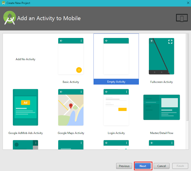 Add new Activity, Android Studio
