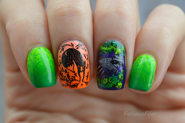 reciprocal gradient stamping bright decal MoYou