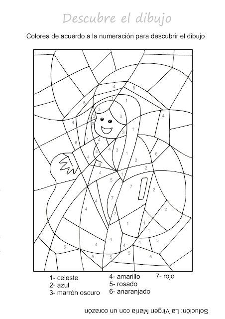 Para Colorear Vida De La Virgen María