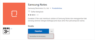 membeli samsung notes windows app store