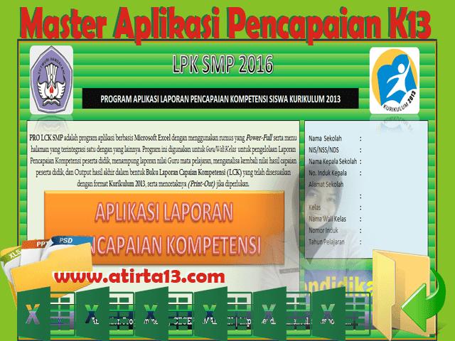 Aplikasi Pencapaian Kompetensi Siswa Kurikulum 2013 Format Excel Gratis