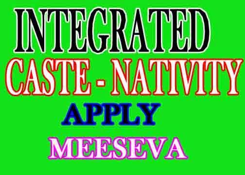 Integrated Certificate  Online Apply  Meeseva II Caste Nativity Date Of Birth  Certificate Online Apply  Meeseva II Fee Amount 35 Rupess