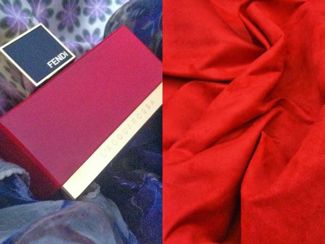 Profumi primavera 2014, fendi l'acquarossa, red suede, suede rosso, camoscio rosso, scamosciato rosso