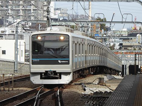 【複々線工事中だけの光景!】小田急電鉄 各停 本厚木行き5 3000形