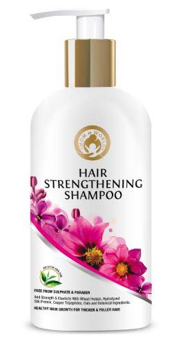 Mom & World Hair Strengthening Shampoo - Protein Shampoo For Thicker and Fuller Hair 300 ml (MOMWLD14)