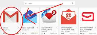 App do Gmail no tablet iphone imac