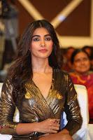 Pooja Hegde looks glamarous in deep neck sleevless short tight golden gown at Duvvada Jagannadham thank you meet function 123.JPG