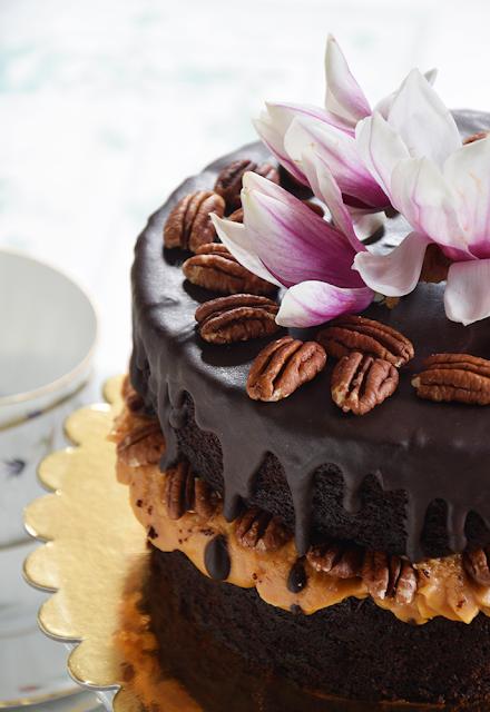 Torta de moka con ganache de chocolate