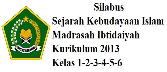 Silabus  SKI Madrasah Ibtodaiyah Kelas 1,2,3,4,5,6