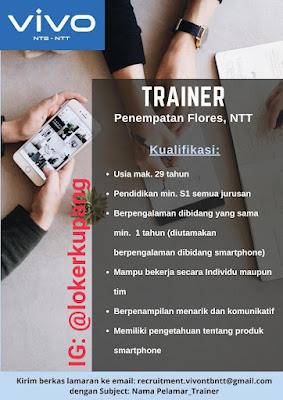 Lowongan Kerja VIVO Sebagai Trainer