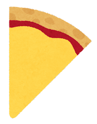 カットされたピザのイラスト(トマトーそす)