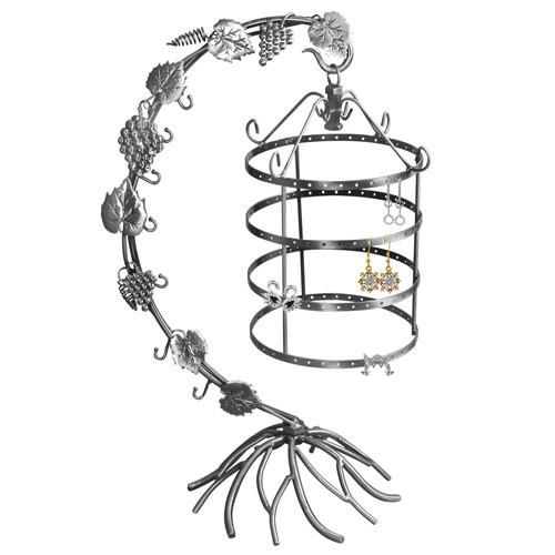 #PEW1025 Metal Wire Earring Display Stand with Grape Vines Design