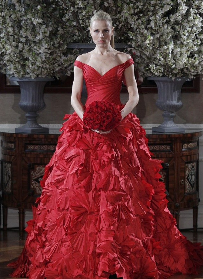 red wedding dresses 2013  wedding style guide