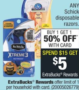 FREE Schick Razor CVS Deal 12-8-12-14