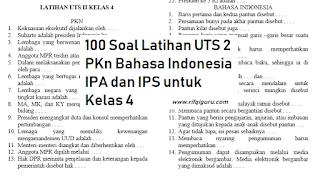 100-soal-latihan-uts-2-pkn-bahasa-indonesia-ipa-dan-ips-untuk-kelas-4-sd