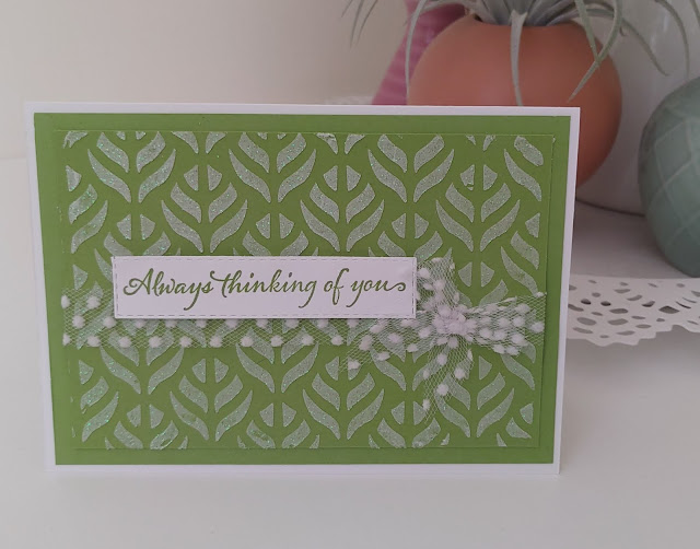 Green Stampin' Up Very Versailles Embossing Paste