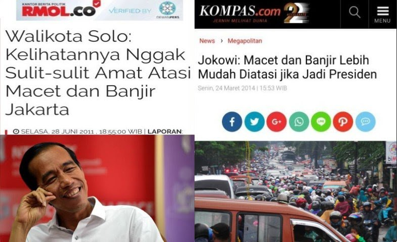 Mengingat Janji Jokowi Atasi Banjir dan Macet Jakarta Bila Jadi Presiden