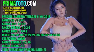 pengeluaran togel singapore - ALMERIA  11-01-2018