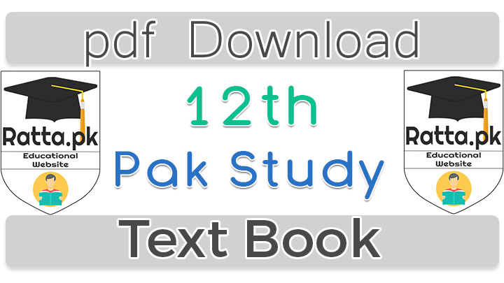 2nd Year Pakistan Studies Text Book in English pdf Download