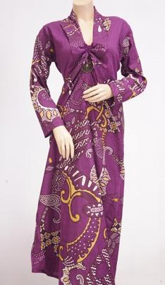Gamis batik wanita muslimah model terbaru